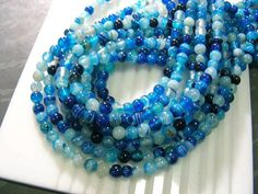 3 Full strand Lovely Agate round beads in Colorful by excellentgem,