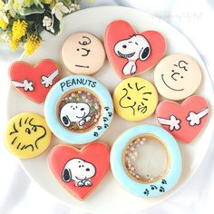 Galleta doble con caramelo Peanut Cookies, Iced Cookies, Royal Icing Cookies, Cookies Et Biscuits, Sugar Cookies, Kawaii Cookies, Cute Cookies, Cupcake Cookies, Cupcakes