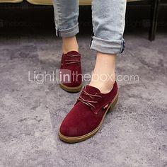 zapatos de las mujeres del dedo del pie redondo botas de ante tacón grueso más colores disponibles 2017 - $24.99