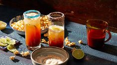 Mexican-style beer Bloody Mary with lime and chilli popcorn (michelada con maíz palomero, ají y limón) All Recipes Chili, Clam Recipes, Beer Recipes, Dishes Recipes, Vegan Recipes, Mexican Beer, Mexican Dishes, Mexican Corn, Mexican Style