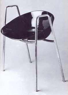 Olavi Hänninen, chair for the Hotel Palace Nissen Café, Finland's first chair with the plastic seat. Retro Furniture, Modernism, Furnitures, Finland, Palace, Chairs, Plastic, Image, Design