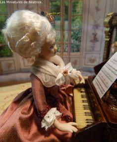 Les Miniatures de Béatrice Baroque, Porcelain, Victorian, Dolls, Miniature Dolls, Princess, Baby Dolls, Porcelain Ceramics, Puppet
