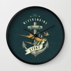 Anchor   Petrol Grey Wall Clock
