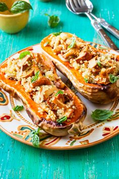 Twice Baked and Stuffed Butternut Squash