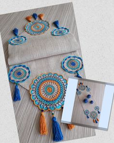 Crochet Table Mat, Crochet Table Runner Pattern, Crochet Mat, Crochet Edging Patterns, Crochet Mandala, Crochet Designs, Crochet Doilies, Hand Embroidery Flowers, Flower Embroidery Designs