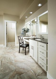 Beautiful master bath vanity built by Highland Homes in Boise, Idaho