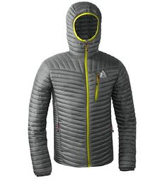 MicroTherm™ Down Hooded Jacket grey size M