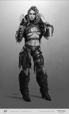 Female Viking 01, Ruslan Yarmilko on ArtStation at https://www.artstation.com/artwork/female-viking-01