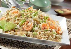 Shrimp Pad Thai Style Recipe, serve this with Thai Ginger Soup for  a complete Asian dinner party flair.