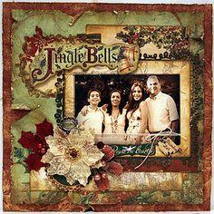I love the colors - Jingle Bells Layout