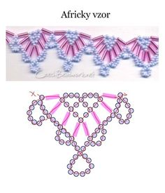 Beaded jewellry – Some simple beaded patterns Bead weaving pattern Beaded Crafts, Beaded Ornaments, Jewelry Crafts, Jewelry Ideas, Jewelry Trends, Seed Bead Jewelry, Bead Jewellery, Mirror Jewellery, Jewellery Supplies
