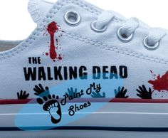 The Walking Dead Rick converse hand painted shoes by PaintMyShoes2