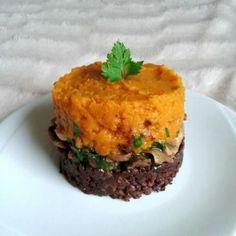 Parmentier of sweet potato, mushrooms and lentils – Vegetarian recipe – … - Recipes Easy & Healthy Vegetarian Recipes Easy, Veggie Recipes, Easy Dinner Recipes, Low Carb Recipes, Easy Meals, Cooking Recipes, Sin Gluten, Plat Vegan, Bagel Recipe