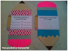 Teacher Discover Use this craftivity for the end AND beginning of the year!