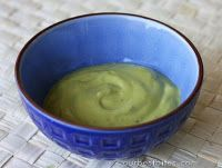 1/2 avocado; 1 T mayo (not light); 1 t olive oil; 1 egg yolk mixed in food processor. leave on 20 mins and then wash as normal.     Vinegar [used occasionally] can help strip out residue. Who knew?