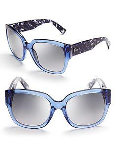 Christian Dior Flanelle Wayfarer Sunglasses | Bloomingdale's