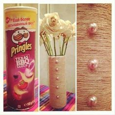 Pringles Dosen basteln - Dekoration Texas Bbq Sauce, Reuse, Upcycle, Crayola, Fertilizer For Plants, Indoor Fountain, Wooden Pallets, Jar Crafts, Recycled Crafts