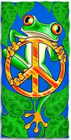 ☮ American Hippie Art ~ Peace Frog