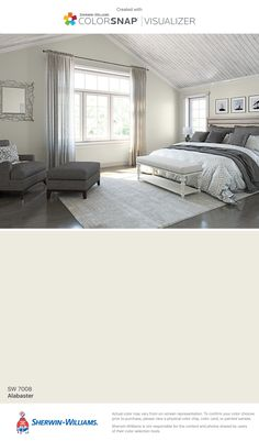 I found this color with ColorSnap® Visualizer for iPhone by Sherwin-Williams: Alabaster (SW 7008).