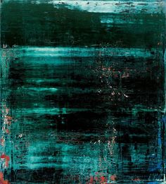 Gerhard Richter. I like this because of the little splotches of red and blue around. The turquoise color has nice contrast with the black and the other colors.