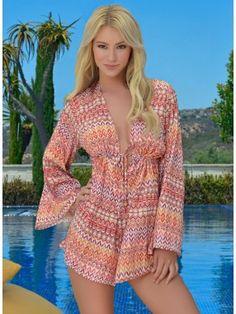 Desert Chic Romper Must Have! #Beachwear #LadyLuxSwimwear #LuxurySwimwear #bikinis