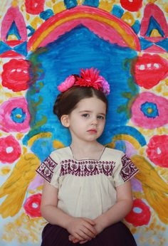 Love this portrait inspired by Frida Kahlo's paintings.