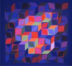 Victor Vasarely - Deuton-A - 1966 // Geometric Art