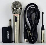 #5: Hisonic HS308L Portable Wireless and Wired 2 in 1 Microphone for Home and Stage Use
