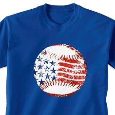 Baseball Tshirt Short Sleeve American Baseball