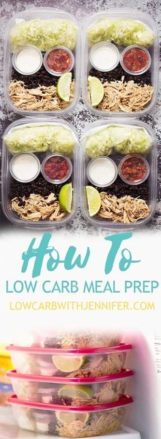 The meal prep is low carb and low in fat This easy low carb meal prep guide will give you so many meal prep ideas and show you how to prep a low carb lunch salad that is delicious and full of flavor. Meal Prep Guide, Easy Meal Prep, Healthy Meal Prep, Easy Meals, Meal Prep Low Carb, Meal Prep Salads, Diet Meals, Healthy Eating, Low Carb Diet Plan