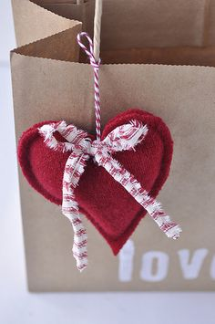 Tutorial on how to repurpose an old sweater into a cute heart!