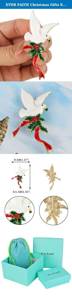 EVER FAITH Christmas Gifts Evergreen Leaf Peace Dove Ribbon Brooch Multicolor Austrian Crystal Gold-Tone. This graceful and beautiful fashion jewelry is truly an eye-catcher which will help you draw admirations on your any occasion. Ever Faith As a company that concentrates on fashion jewelry, we already have about 10 years experience on fashion jewelry trend. We work magic on jewelry, keep on new designs and to a leader of beauty and style is our goal. We have over 5000 products and are...