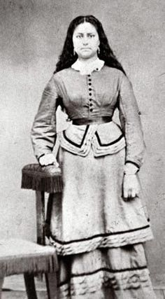 Jenny Meek-Newhard (the daughter of Virginia Meek and Joseph Lafayette Meek) - Nez Perce/Euro-American - no date or location