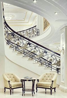Elegant Staircase in The State Hermitage Hotel
