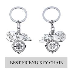 BBF Best Friends Key Chain Ring Set No Matter Where Compass Split Broken Heart Friendship Gift Unisex ** Find out more by seeing the picture web link. (This is an affiliate link). Best Friend Jewelry, Key Chain Rings, Friendship Gifts, Compass, Best Friends, Image Link, Unisex, Personalized Items, Amazon