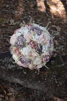 Wedding Bouquet Dusty Pink Mauve Blush Bouquet, Sola Bouquet