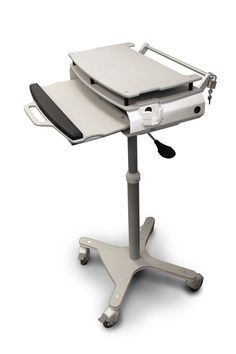 Mobile Computer Cart Made with King MediGrade®, The Antimicrobial Polymer Building Sheet for Healthcare Applications.