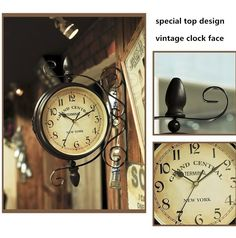 Aliexpress.com : Buy 1 picece retro vintage rustic wooden home decorative Eiffel wall clock,antique clock, clock designed on the wall from Reliable clock date suppliers on Rock home decor | Alibaba Group