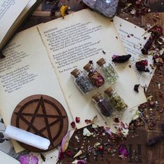 """wiccamoonlight: """"  First Quarter Moon Magic: Positivity Blend Meditation Spell Ingredients: • dried rose petals (red, yellow, or white are best) • dried and ground sage • dried lavender • dried and baked blueberries • dried dandelion heads +..."""