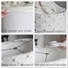 Een oude trui wordt een lampenkap.