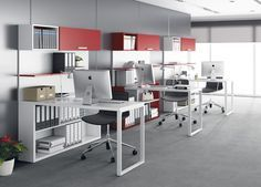 oficina moderna decoracion - Buscar con Google                                                                                                                                                                                 Más