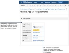 How to document product requirements in Confluence - Atlassian Documentation