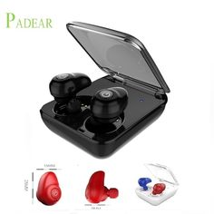 Padear mini Bluetooth Headsets Wireless Sports in-Ear Stereo Earbuds Earpiece Earphones not Air pods for apple iphone Android //Price: $35.63//     #shopping