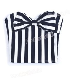 Navy/White strapless bow vest ($14.99 USD)  Large (88.9CM bust)