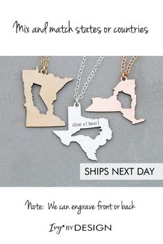 4dd423d2b Best Friend Gift Girlfriend Necklace • Graduation Gift Going Away Gift  Moving Long Distance Relation