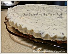 CHOCOLATE RICOTTA TART / turn the filling into ice cream bars!