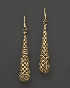 Gucci Yellow Gold Diamantissima Light Earrings - Earrings - Shop by Style - Fine Jewelry - Bloomingdale's Gucci Jewelry, Gold Jewelry, Jewelery, Jewelry Accessories, Fine Jewelry, Fashion Jewelry, Jewelry Design, Jewellery Earrings, Vivienne Westwood