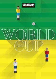Senior Art Director: Sara Raffaghello  Group Editor: Mark Evans  #whatson #magazine #poster #cover #feature #football #worldcup #brazil #dubai #UAE #design #layout