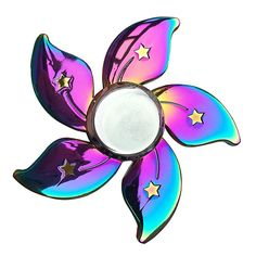 Fidget spinner rainbow color floral star finger hand spinner EDC toys. Rainbow aluminium alloy materials rainbow floral star fidget toy, fidget spinners.