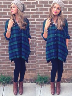 Plaid tunic #swoonboutique